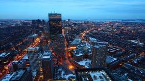 4K UltraHD A timelapse of Boston at dusk stock video