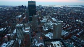 4K UltraHD Timelapse of the Boston, Massachusetts city center at night stock video