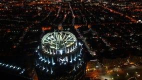 4K UltraHD Timelapse of the Boston Skyline at night stock video footage