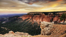 4K UltraHD Timelapse of Bryce Canyon at sunset. 4K UltraHD Timelapse of the wonder of Bryce Canyon at sunset stock video footage