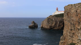 4K UltraHD Timelapse of Cape St. Vincent Lighthouse near Sagres in Portugal stock video footage