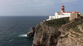 4K UltraHD Timelapse of Cape St. Vincent Lighthouse, Portugal stock footage