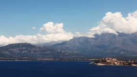 4K UltraHD Timelapse of the coastline near Calvi in Corsica stock footage