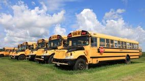 4K UltraHD Timelapse czekanie parkujący autobusy szkolni zbiory