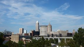 4K UltraHD Timelapse del centro urbano di Cleveland stock footage