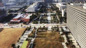 4K UltraHD Timelapse del horizonte de Los Ángeles con Dodger Stadium en el primero plano almacen de metraje de vídeo