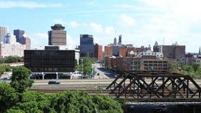 4K UltraHD Timelapse del tráfico en Rochester, Nueva York almacen de video