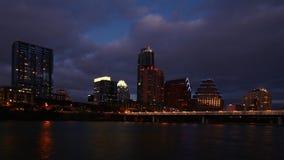 4K UltraHD Timelapse dell'orizzonte di Austin alla notte stock footage
