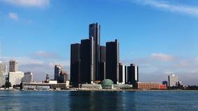 4K UltraHD Timelapse der Detroit-Skyline über dem Fluss stock video footage