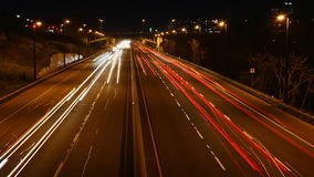4K UltraHD Timelapse des Nachtverkehrs in Toronto, Kanada stock video footage