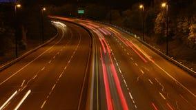 4K UltraHD Timelapse des Nachtverkehrs in Toronto, Ontario, Kanada stock footage