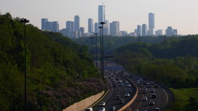 4K UltraHD Timelapse of Don Valley Parkway traffic in Toronto stock video footage