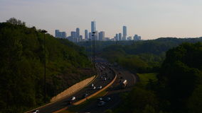4K UltraHD Timelapse of Don Valley Parkway traffic in Toronto, Canada stock video footage