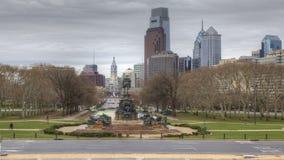 4K UltraHd Timelapse Filadelfia od muzeum sztuki zdjęcie wideo