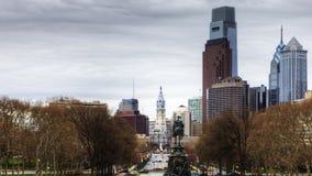 4K UltraHd Timelapse Filadelfia, Pennsylwania od muzeum sztuki zdjęcie wideo