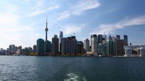 4K UltraHD Timelapse från färjan till Toronto öar lager videofilmer