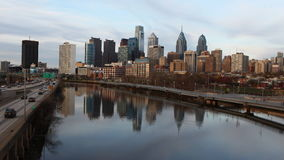 4K UltraHd Timelapse horizonte de la Philadelphia, Pennsylvania metrajes