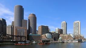 4K UltraHD Timelapse horizonte del puerto de la Boston, Massachusetts