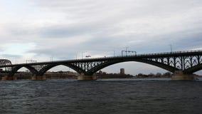 4K UltraHD Timelapse of the Peace Bridge stock video