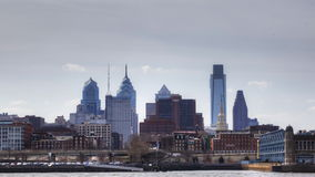 4K UltraHd Timelapse of Philadelphia across the Delaware River stock video footage