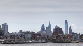 4K UltraHd A Timelapse of Philadelphia across the Delaware River stock footage