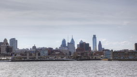 4K UltraHd A Timelapse of Philadelphia across the Delaware River stock video footage