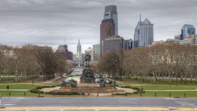 4K UltraHd A Timelapse of Philadelphia from the Museum of Art stock video footage