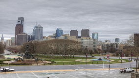 4K UltraHd Timelapse of Philadelphia from the Museum of Art stock video