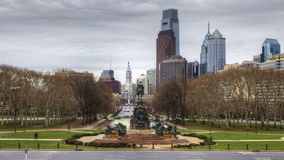 4K UltraHd Timelapse of Philadelphia from the Museum of Art stock video footage
