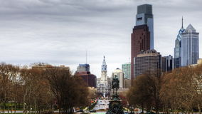 4K UltraHd Timelapse of Philadelphia, Pennsylvania from the Museum of Art stock video footage