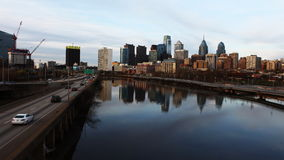 4K UltraHd A timelapse of Philadelphia skyline stock video footage