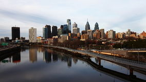 4K UltraHd Timelapse of Philadelphia skyline stock video footage