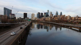 4K UltraHd Timelapse of the Philadelphia skyline stock footage