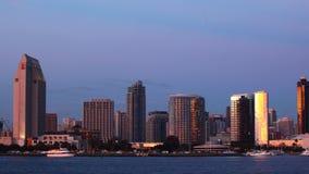 4K UltraHD Timelapse San Diego linia horyzontu od dnia noc zbiory
