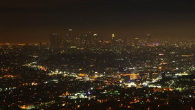 4K UltraHD Timelapse sobre Los Angeles na noite video estoque