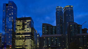 4K UltraHD Timelapse Toronto`s downtown core after dark stock video footage