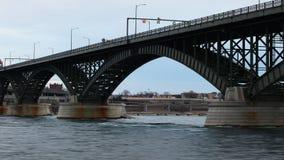 4K UltraHD Timelapse of traffic on the Peace Bridge stock footage