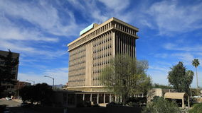 4K UltraHD Timelapse of Tucson, Arizona municipal building on a clear day stock video