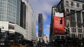 4K UltraHD Timelapse uliczna scena blisko Macy ` s, Manhattan zbiory