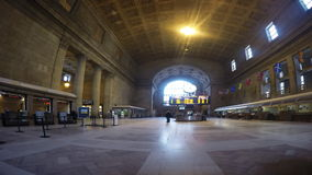 4K UltraHD A timelapse of Union Station in Toronto stock video footage