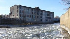 4K UltraHD Timelapse van Oude molen in Cambridge, Canada stock video