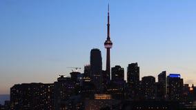 4K UltraHD Timelapse van Toronto bij nacht over de haven stock footage