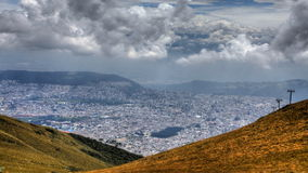 4K UltraHD A timelapse view above the City of Quito, Ecuador stock video footage