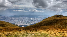 4K UltraHD Timelapse view above the City of Quito, Ecuador stock footage