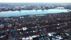 4K UltraHD Timelapse view of a Boston neighborhood stock footage