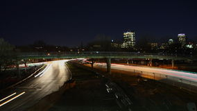 4K UltraHD Timelapse view of a Boston night traffic. 4K UltraHD A Timelapse view of a Boston night traffic stock video