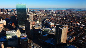 4K UltraHD Timelapse view of the Boston Skyline at dusk stock video footage