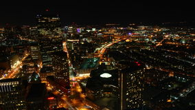 4K UltraHD Timelapse view of the Boston Skyline at night. 4K UltraHD Timelapse of the Boston Skyline at night stock video footage