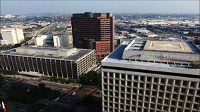4K UltraHD A timelapse view of buildings near city hall in Los Angeles stock video footage
