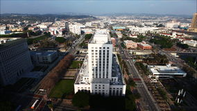 4K UltraHD A timelapse view of buildings near city hall by Los Angeles stock video footage